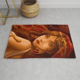 Roman Woman (Painting) Rug