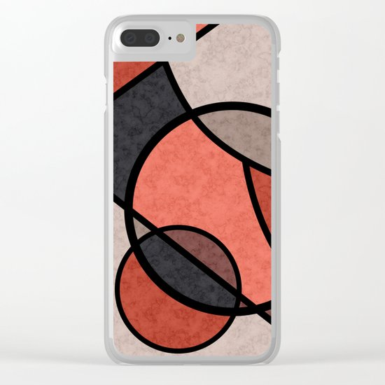 Full moon , abstract Clear iPhone Case