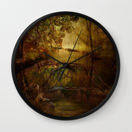 Magical Channel-Bashakill Wetlands Wall Clock