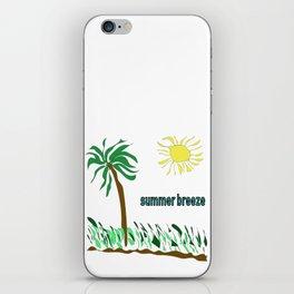 summer breeze minimal sketch iPhone Skin
