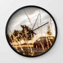 Way Home In Sunset Wall Clock