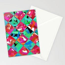 Red Rose Diamond Stationery Cards