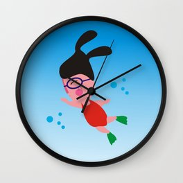 Swimmer Wall Clock
