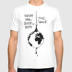 HANG THE WORLD. Mens Fitted Tee White MEDIUM