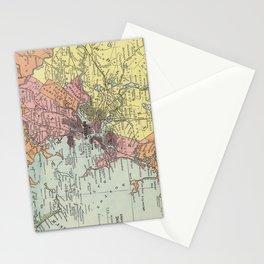 Vintage Map of Boston Massachusetts (1903) Stationery Cards