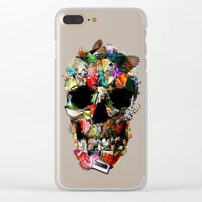 Fragile Skull Clear iPhone Case