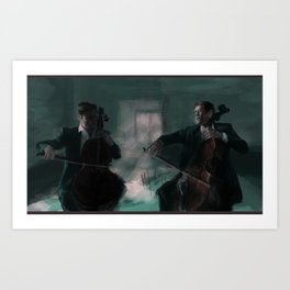 2 Cellos Art Print