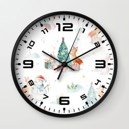 Cute fox 3 Wall Clock