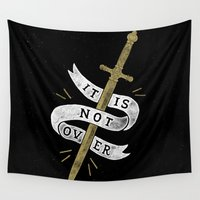 gryffindor Wall Tapestries featuring It Is Not Over by WEAREYAWN