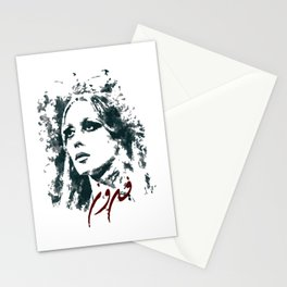 Queen of the arabic music fairuz Stationery Cards