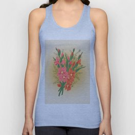 Bouquet of pink and red gladioluses Unisex Tank Top