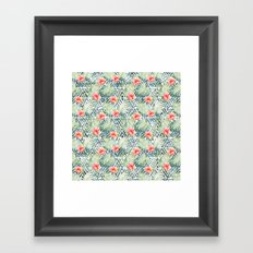 Tropical Tribal Hibiscus Floral Framed Art Print