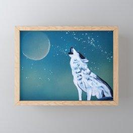 Wolf painting Framed Mini Art Print