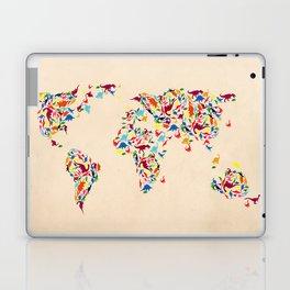 map dinosaur Laptop & iPad Skin