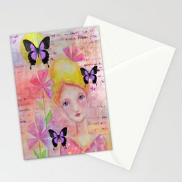 Sweet Girl Stationery Cards