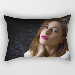 Beautiful woman portrait Rectangular Pillow