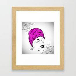 Lady Wrap (purple) Framed Art Print
