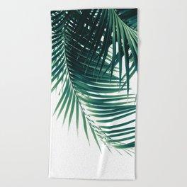 Palm Leaves Green Vibes #4 #tropical #decor #art #society6 Beach Towel