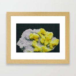 Sulfur on Celestine Framed Art Print