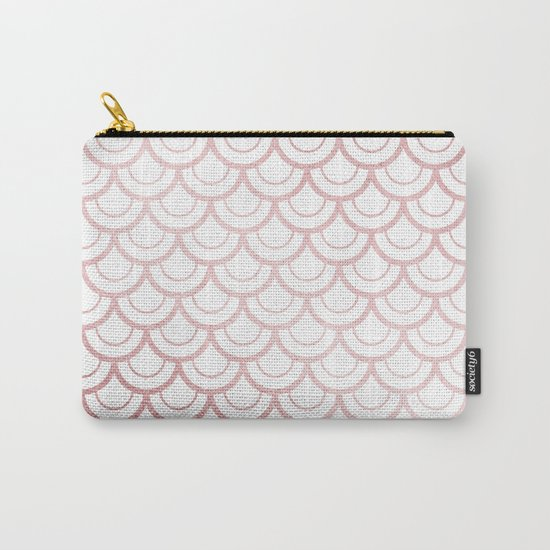 Simply Mermaid Scales in Rose Gold Sunset Carry-All Pouch