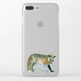 Fox and Hare Clear iPhone Case
