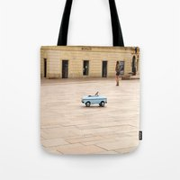 toddler Tote Bags featuring Toddler Car In Monaco by ExperienceTheFrenchRiviera