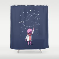 constellation Shower Curtains featuring Constellation by Freeminds