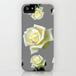 WHITE ROSES GARDEN DESIGN iPhone Case
