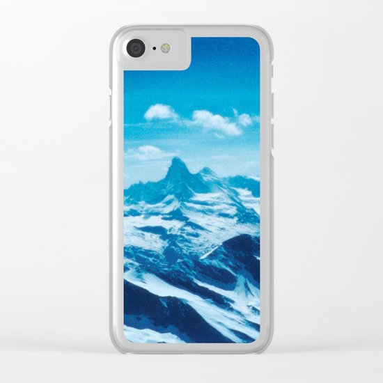 Winter Wonderland up in the Mountains #1 #art #society6 Clear iPhone Case