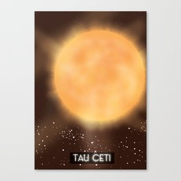 Tau Ceti space art poster. Canvas Print