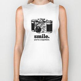 Smile. You're a super hero Biker Tank
