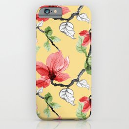 Abstract flower painting vintage illustration iPhone Case