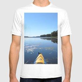 Watercolor People in Nature, OL, Kayak 13, Kejimkujik, Nova Scotia, Canada T-shirt