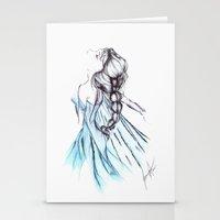 frozen elsa Stationery Cards featuring Frozen Elsa by Jeanette Perlie
