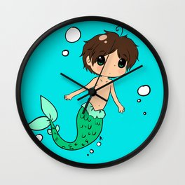 Chibi Mer!Eren Wall Clock
