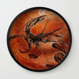 Sandstorm Dragon Wall Clock