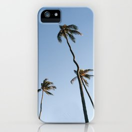 Palm Trees and Moon Beams iPhone Case