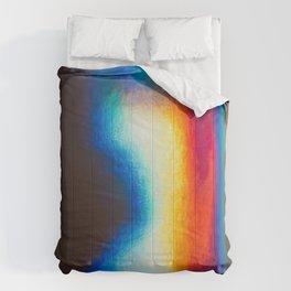 Iridescent metallic refraction Comforters