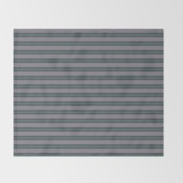 Magic Dust Muted Purple PPG13-24 Horizontal Stripes Pattern 1 on Night Watch PPG1145-7 Throw Blanket