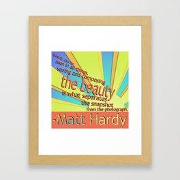 -Matt Hardy Framed Art Print