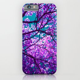 purple tree II iPhone Case