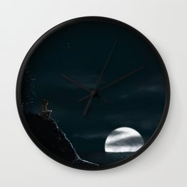 Pondering the Moon Wall Clock