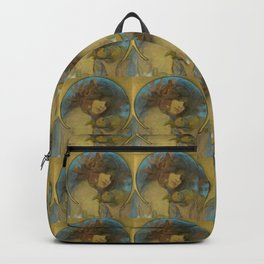 """Alphonse Mucha """"Study for a poster - Fruit"""" Backpack"""