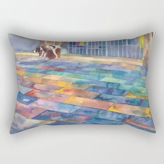 Dog and the city Rectangular Pillow