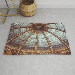 Neo-byzantine stained glass dome - Galleries of Paris - Fine Art Travel Photography Rug
