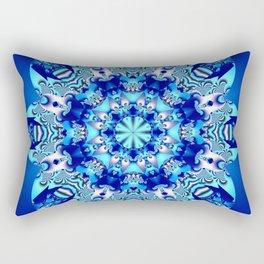 The blue snowflake Rectangular Pillow