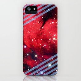 Red Space Lines iPhone Case