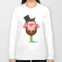 phil jones Long Sleeve T-shirts featuring Mr. Phil by Luigi Leuce