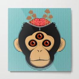 3rd Eye Chimp & Psychedelic Mushrooms Metal Print
