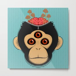 3rd Eye Chimp & Psychedelic Mushrooms Metal Print